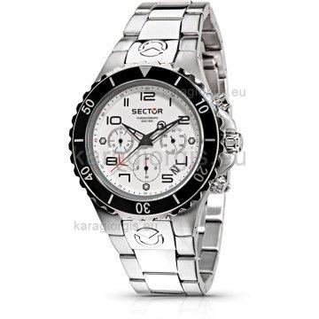 Ρολόι SECTOR χρονογράφος με μπρασελέ 42mm