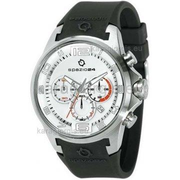 Ρολόι SPAZIO 24 αντρικό χρονογράφος με λουράκι σιλικόνης 45mm
