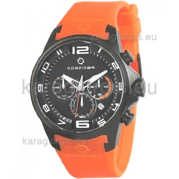 Ρολόι SPAZIO 24 αντρικό με λουράκι σιλικόνης 45mm