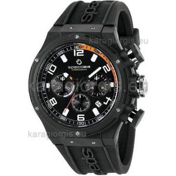 Ρολόι SPAZIO 24 αντρικό με λουράκι σιλικόνης 47mm