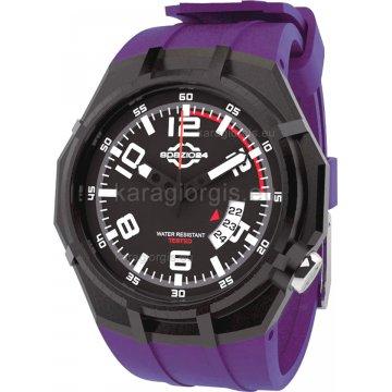 Ρολόι SPAZIO 24 αντρικό-γυναικείο με λουράκι σιλικόνης 45mm