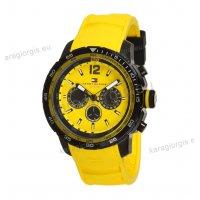 Ρολόι TOMMY hilfiger κίτρινο λουράκι σιλικόνης ενδείξεις ημέρας-ημερομηνίας(day-date) 44mm