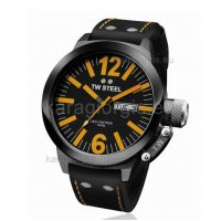 Ρολόι TW STEEL ceo canteen total black μαύρο με δερματινο λουράκι 50mm